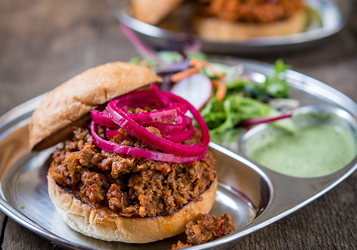 ADYA Keema Pav sandwich photo by Anne Watson