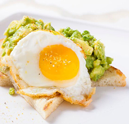 avo-toast at Dandelion Cafe