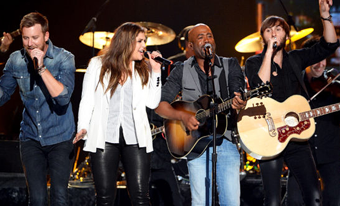 Lady Antebellum and Darius Rucker photo by Ethan Miller/Getty Images