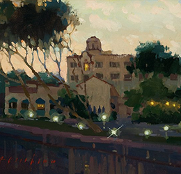"Laguna Plein Air Painting Invitational – ""Before Sunrise"" painting by Aimee Erickson"