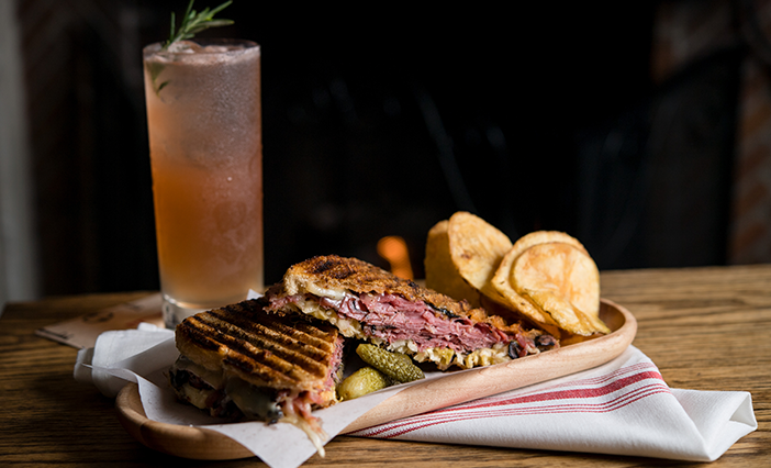 Reuben sandwich at SideDoor in Corona del Mar