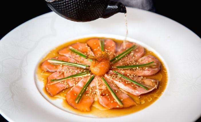 NOBU Salmon Sashimi New Style photo by Henry Hargreaves