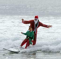 The Ritz Carlton Surfing Santa