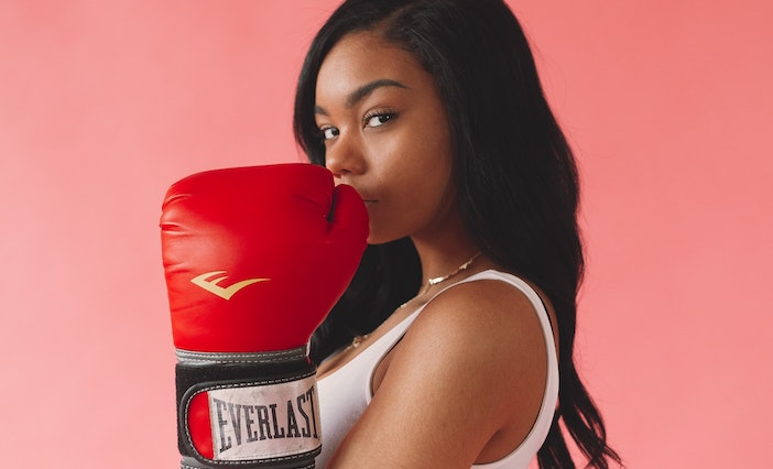 Woman with boxing gloves photo by Jermaine Ulinwa from Pexels