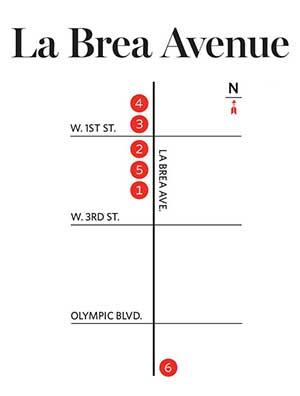 La Brea Ave. Map