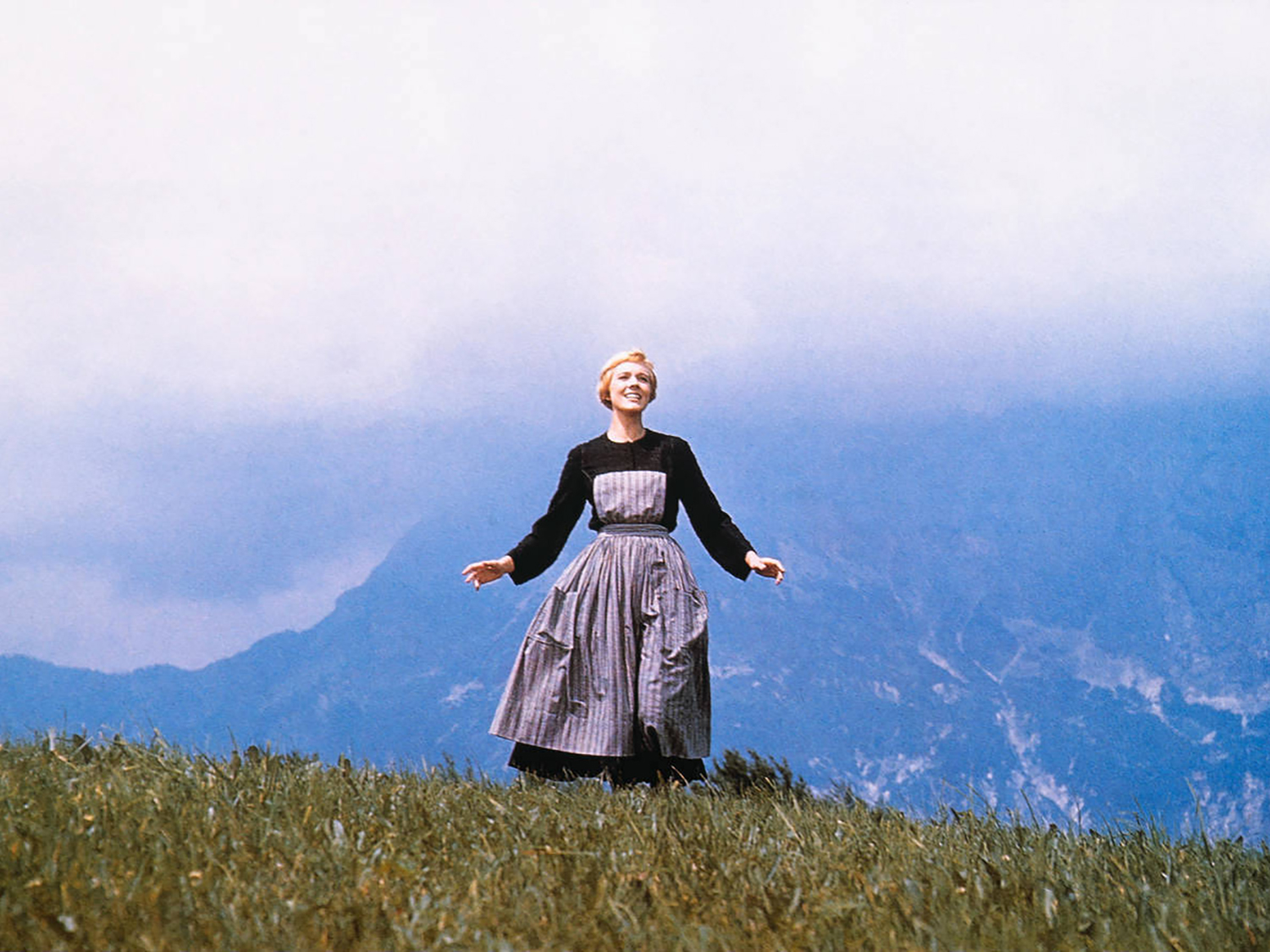 """Julie Andrews in """"Sound of Music"""" photo credit Glasshouse Images/Alamy Stock Photo"""