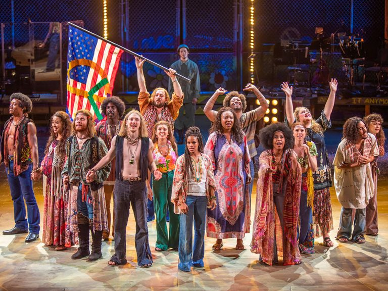 """The cast of """"Hair"""" at The Old Globe, 2021_photo by Jim Cox"""