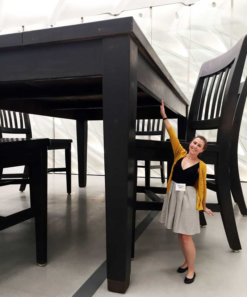 Robert Therrien's Table and Four Chairs