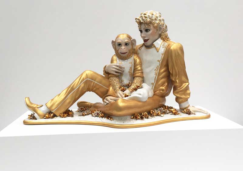 Michael Jackson and Bubbles by Jeff Koons